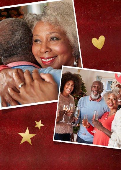 Rode Corona nieuwjaarskaart samen gaat het lukken ster goud 2