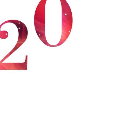 Rode kerstkaart 2019 goud 2