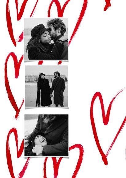 Romantische valentijnskaart met grote harten 2