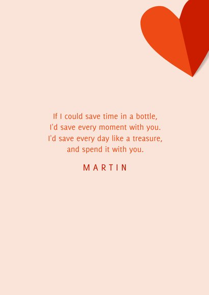 Romantische valentijnskaart met veel hartjes en foto 3