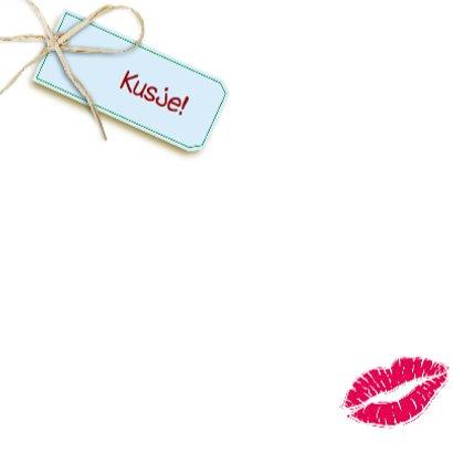 Roos in vorm van hart kusje beterschap 3