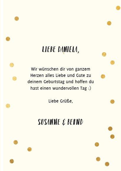 Rosa Konfetti-Glückwunschkarte 'happy bday to you' 3