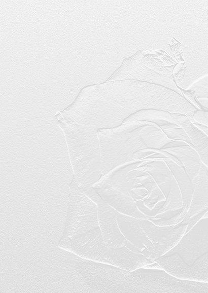Rouw breekbaar glazen roos 2