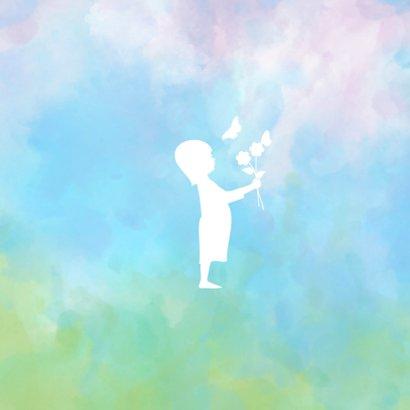 Rouw  waterverf silhouet meisje 2