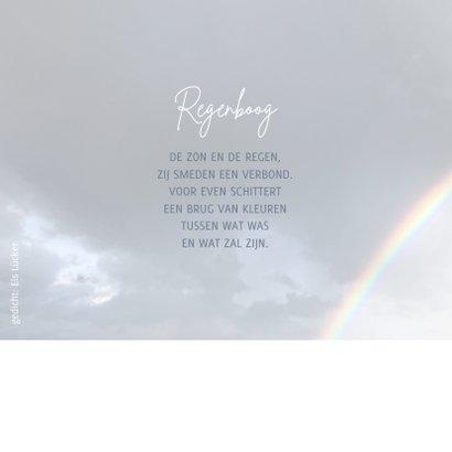 Rouwkaart aan het einde van de regenboog 2