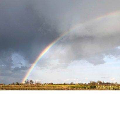 Rouwkaart aan het einde van de regenboog Achterkant