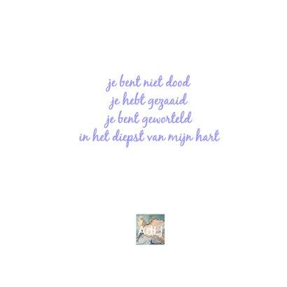Rouwkaart Boom Be rand - AW 3