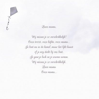 Rouwkaart brief voor mama 2