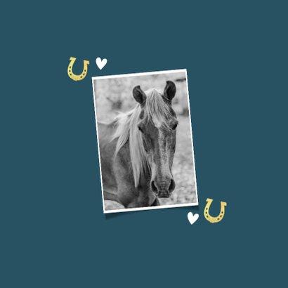 Rouwkaart dieren paard pony met vlinder en hartjes 2