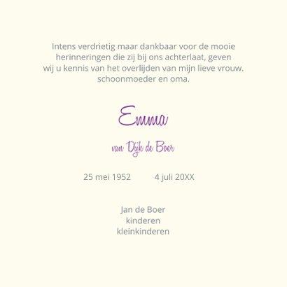 Rouwkaart hortensiabloemen 3