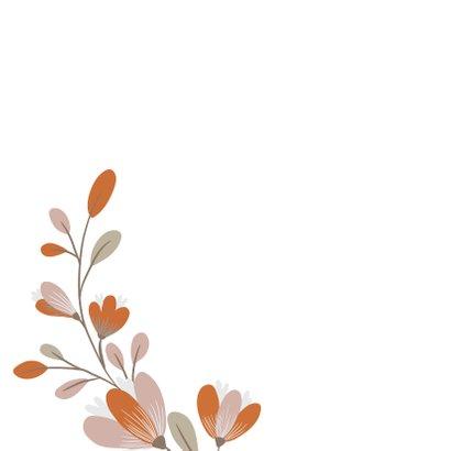 Rouwkaart met bloem 2