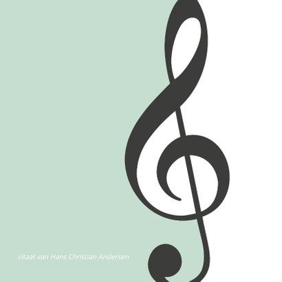 Rouwkaart muziek 2