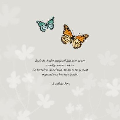 Rouwkaart natuurlijk vlinders foto bloemen man vrouw 2