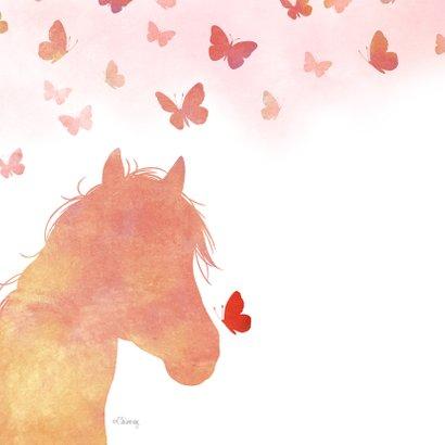 Rouwkaart paard met vlinders 2