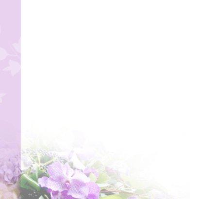 rouwkaart paarse orchidee 2