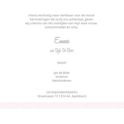 Rouwkaart roze klaproos 3