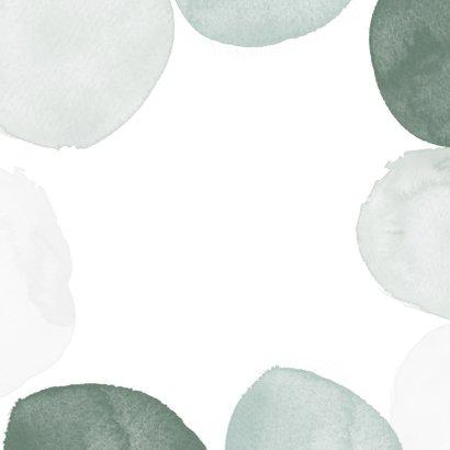 Rouwkaart stijlvol waterverf groen man klassiek foto Achterkant