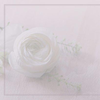 Rouwkaart witte roos klassiek 2