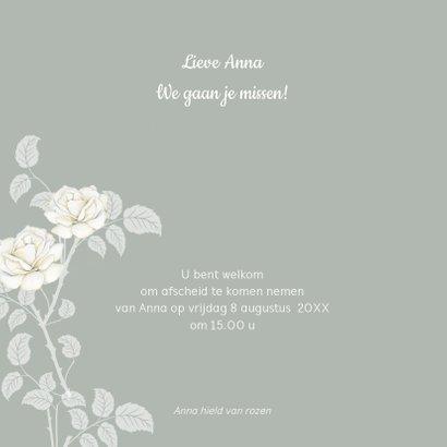 Rouwkaart witte rozen 2