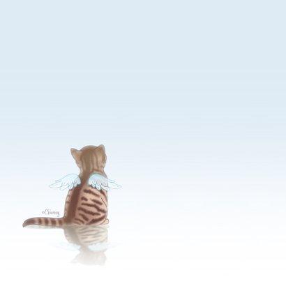 Rouwkaarten kat engel huisdier 2