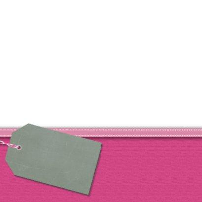Roze ranonkel kaart 2