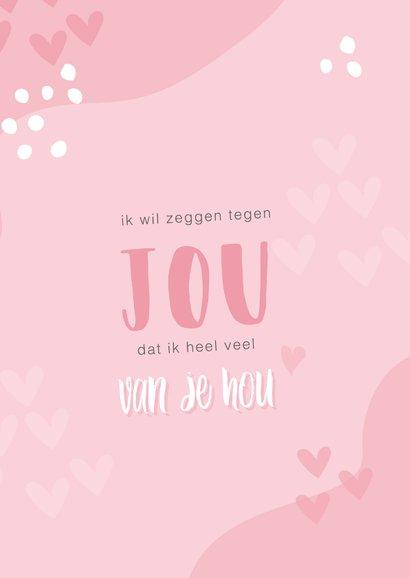 Roze valentijnskaart met tekst 'ik hou nog steeds van jou' 2