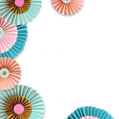 Rozetten en confetti feestje 2
