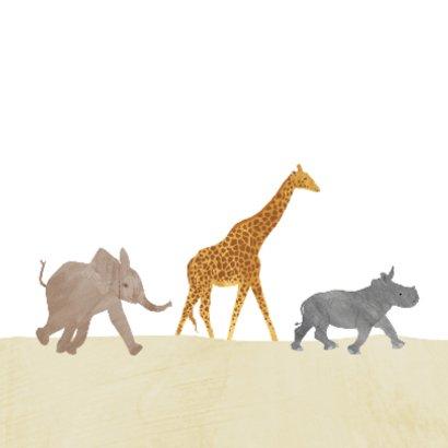 Safari dieren verjaardagskaart  2