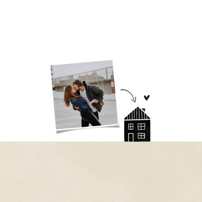 Samenwonen kaart kraft huisje met hartjes 2