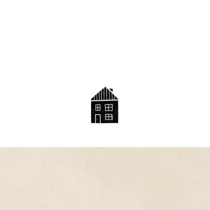 Samenwonen kaart kraft huisje met hartjes Achterkant