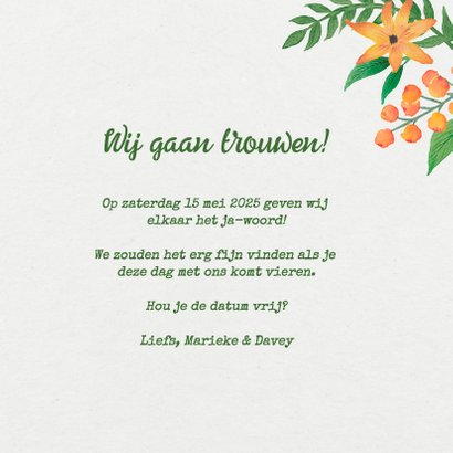 Save the Date Bloemen Bohemian  3