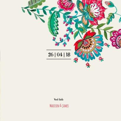 Save the Date bloemen modern 3