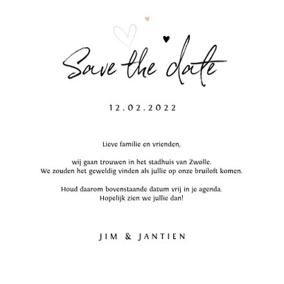 Save the Date Bohemian met bloemen 3