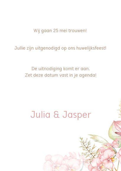 Save the date droogbloemen orchidee 3