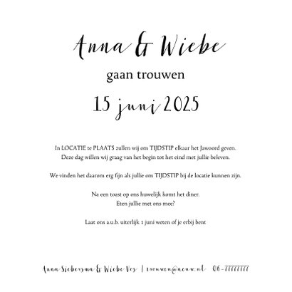 Save the date fotocollage met  handlettering 3