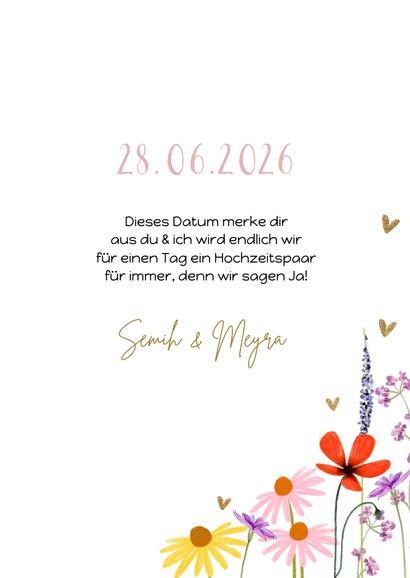 Save-the-Date-Fotokarte Hochzeit Blumenwiese 3