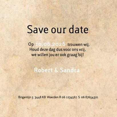 Save the date geometrisch hart 3