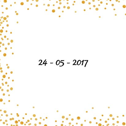 Save the date Gold Sparkle - SV 2