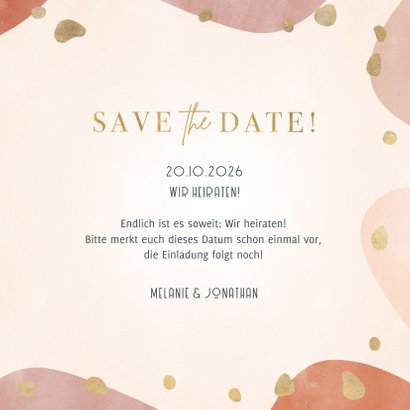 Save the Date Hochzeitskarte geometrisch & organisch 3