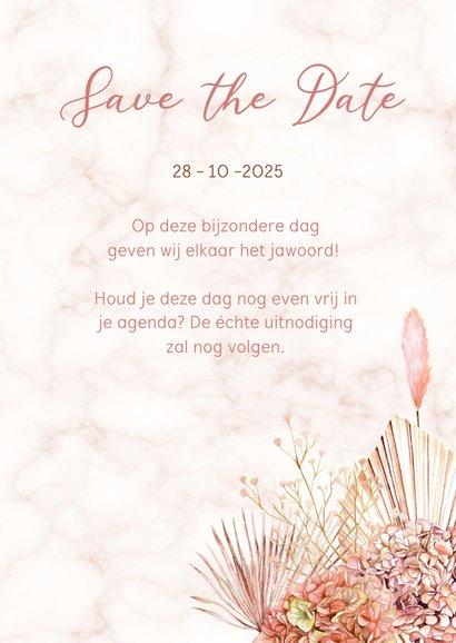 Save the date hortensiabloemen 3