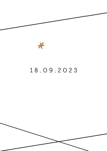 Save the Date kaart  in geometrische stijl 2
