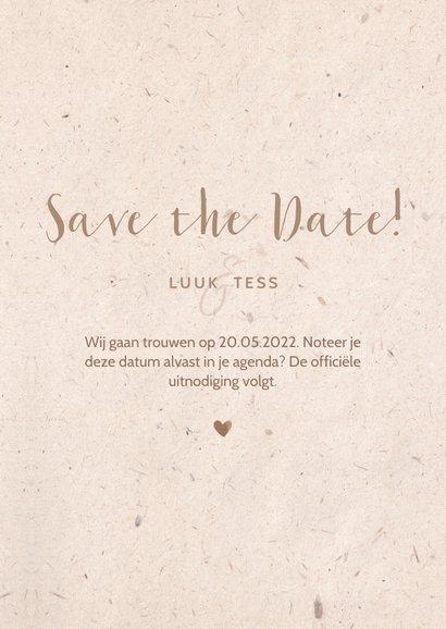 Save the Date kaart kraftlook met duiven van bloemen 3