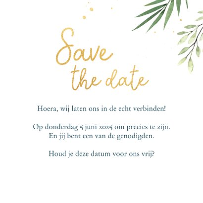 Save the date kaart met donkere achtergrond 3
