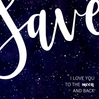 Save the date kaart 'SAVE' Galaxy  2