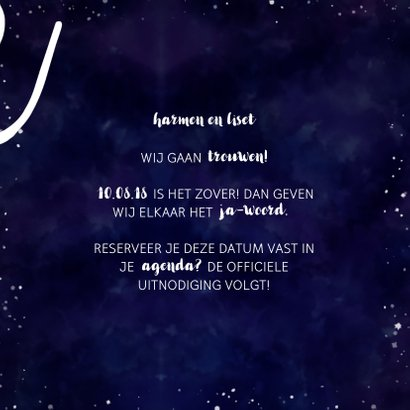 Save the date kaart 'SAVE' Galaxy  3