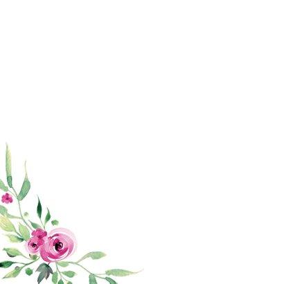 Save the Date kaart Stijlvol wit met bloemen 2
