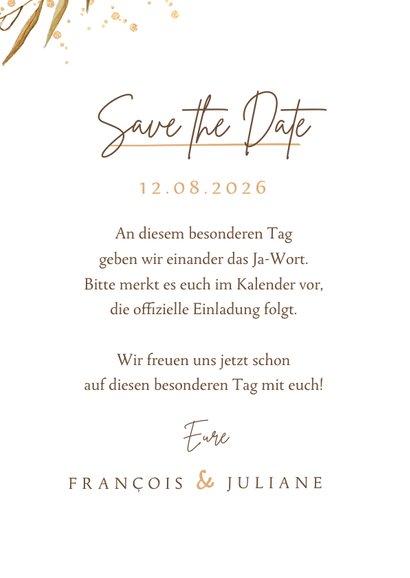 Save-the-Date-Karte Foto und feine Zweige 3