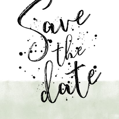 Save-the-Date-Karte Hochzeit Aquarelllook Punkte 2