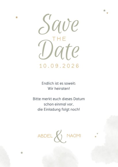 Save the Date Karte Hochzeit Arabian Vibes 3