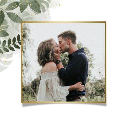 Save-the-Date-Karte Hochzeit botanisch mit eigenem Foto 2